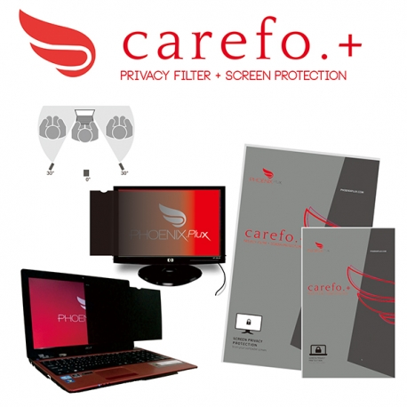 Carefo.+ P2R-14.1-W10 Privacy Screen Filter 14.1""