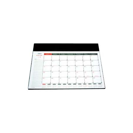 "2019 Desk Mat Calendar Set 15""x21.5"" Black"