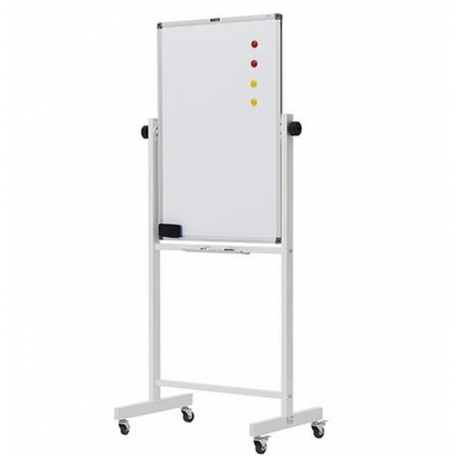 M&G Double Sided Magnetic Mobile Dry-Erase Whiteboard H900*L600mm