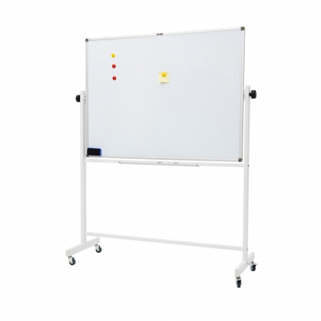 M&G Double Sided Magnetic Mobile Dry-Erase Whiteboard H900*L1200mm