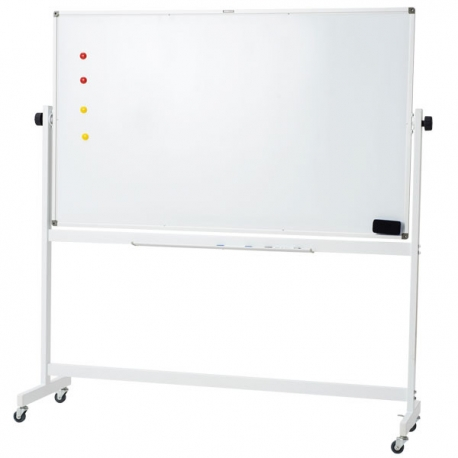 M&G Double Sided Magnetic Mobile Dry-Erase Whiteboard H900*L1500mm