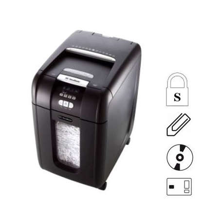 GBC Auto+300X Cross Cut Paper Shredder 4mmx40mm 8Sheets
