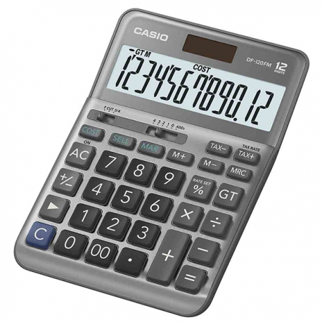 Casio DF-120FM Calculator 12 Digits Sliver