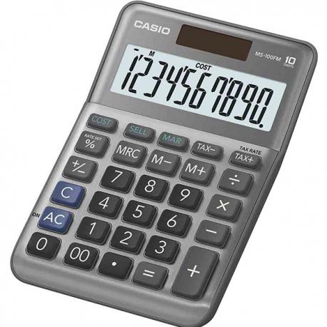 Casio MS-100BM Calculator 10 Digits Silver