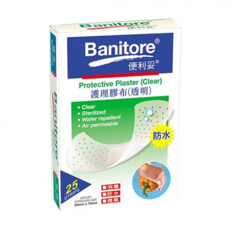 Banitore Bacteria Proof Plaster 25's Clear