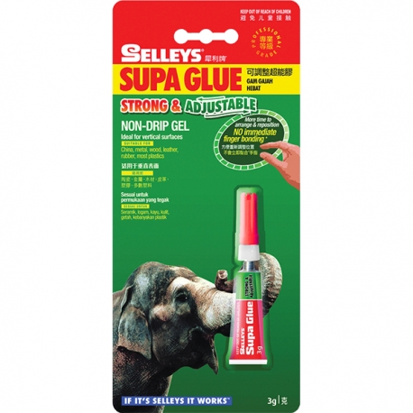 Selleys 115416 Supa Glue Strong & Adjustable 3g