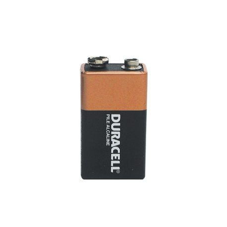 Duracell Alkaline Battery 9V Shrink Plastic Bag
