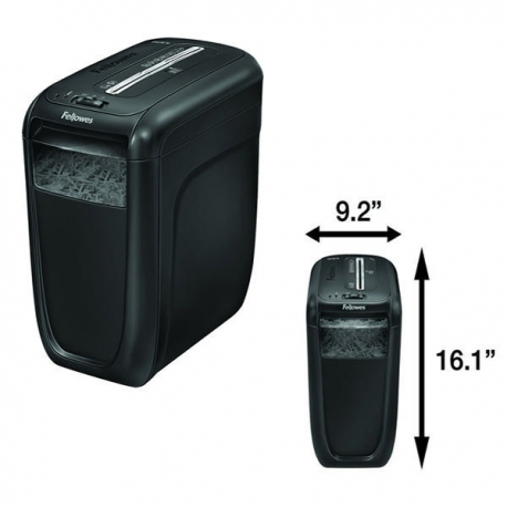 Fellowes 60Cs Cross Cut Shredder 4x50mm 10-sheets