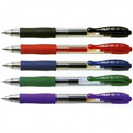百樂牌 G2-5 按掣式啫喱筆 0.5毫米 黑色/藍色/紅色/綠色/紫色/橙色