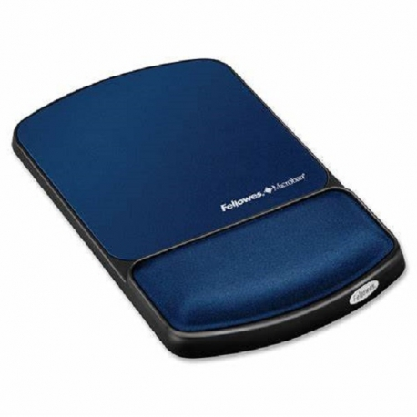 """Fellowes 9175401 Blue Gel Wrist Rest & Mouse Pad w/Microban - Graphite"""