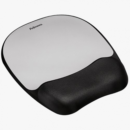 Fellowes 9175801 Silver Memory Foam Wrist & Mouse Pad
