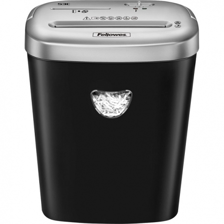 Fellowes Powershred 53C Cross-Cut Shredder 4x35mm 10-Sheet