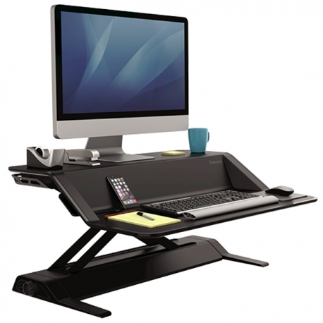 Fellowes 07901 Lotus Sit-Stand Workstation Black