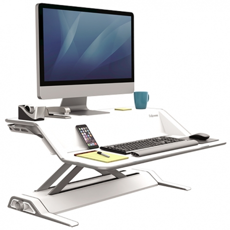 Fellowes 09901 Lotus Sit-Stand Workstation White