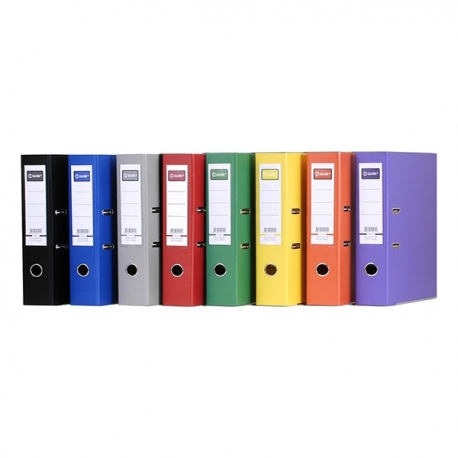 "Globe PVC Lever Arch File A4 3"" Black/Blue/Red/Green/Yellow/Orange/Purple/Grey"