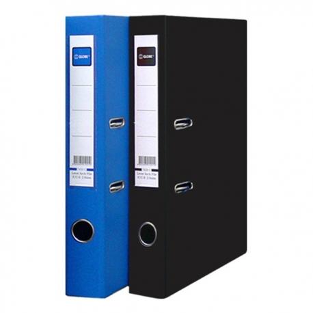 "Globe PVC Lever Arch File A4 2"" Black/Blue"