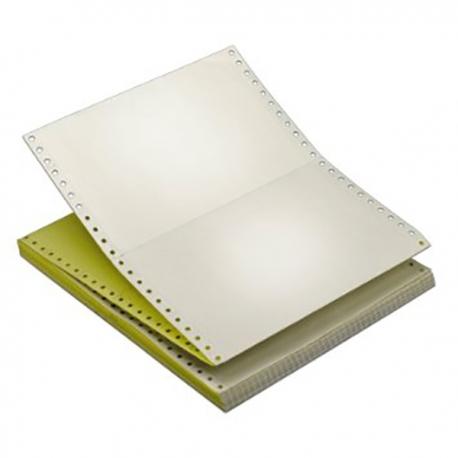 空白電腦紙 兩層 9.5吋x11吋 1000張 白色/黃色