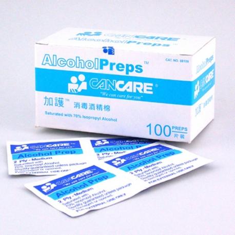 加護 消毒酒精棉 65亳米x30毫米 100片装