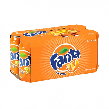 Fanta Soda Soft Drink Orange Flavored 330ml 8Cans