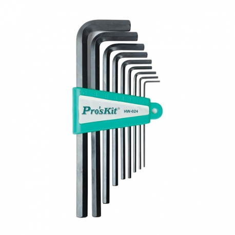 Prokits HW-024 9Pcs Long Arm Hex Key Set
