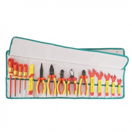 Prokits PK-2813M 15 PCS 1000V Insulated Metric Roll Tool Kit