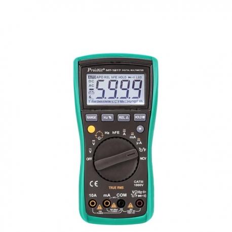 Pro'sKit MT-1217 3 5/6真有效值自動量程數位電錶