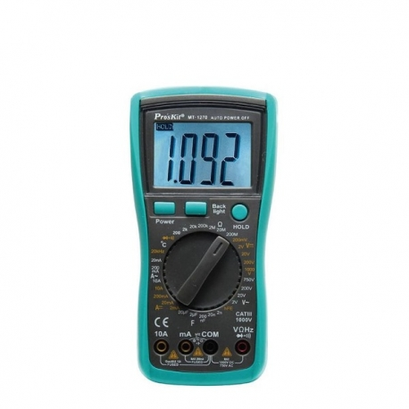Pro'sKit MT-1270 3 1/2數位電錶,附電容.溫度測試