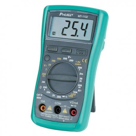 Pro'sKit MT-1233C 3 1/2數位電錶 帶溫度測試