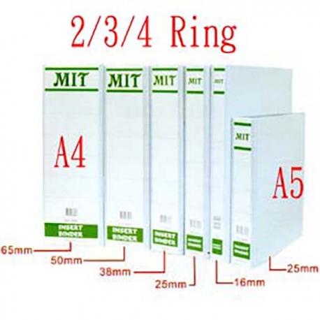 MIT 8120/8130/8140 插頁活頁膠文件夾 A4 16毫米 白色
