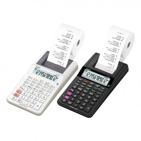 卡西歐 HR-8RC 出紙計算機 12位 (黑色/白色)