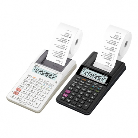 Casio HR-8RC Print Calculator 12 Digits (Black/White)