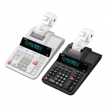 Casio DR-120R 2-color Print Calculator 12 Digits (Black/White)