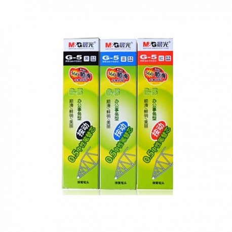 M&G K-35 Retractable Gel Pen Refill Black/Blue/Red