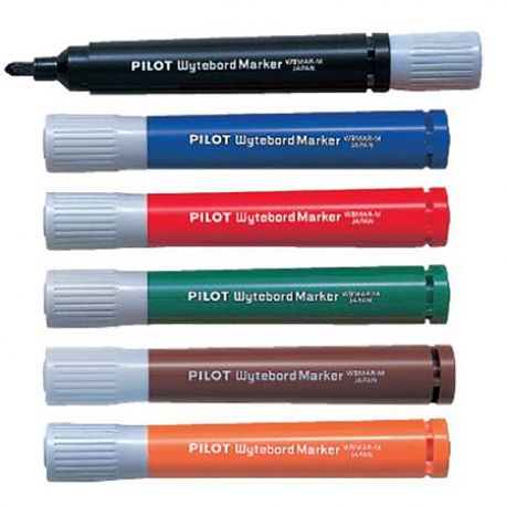 Pilot WBMAR-M Wyteboard Marker Black/Blue/Red/Green/Brown/Orange