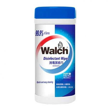 Walch Antibacterial Wet Wipes 75Sheets