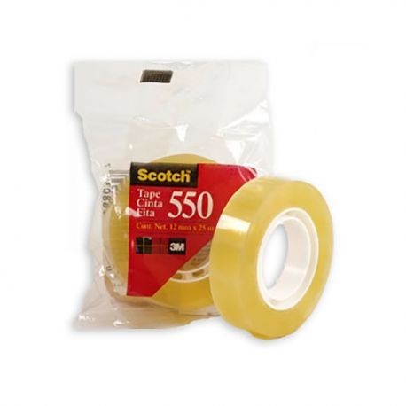 "3M Scotch 550 Adhesive Tape 1/2""(12mm)x25M"