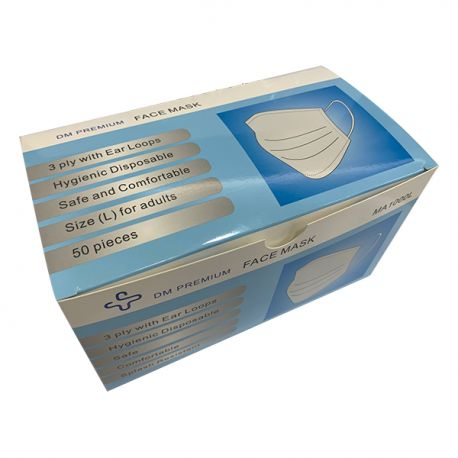 DM 3-ply Respirator Mask Ear-Loop 50Pcs (non-individual) BFE / PFE / VFE 99%