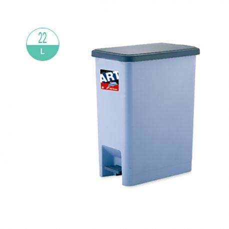 419 Rectangular Step On Rubbish Bin 22Litre Grey