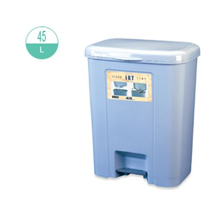 428 Rectangular Step On Rubbish Bin 45Litre Grey
