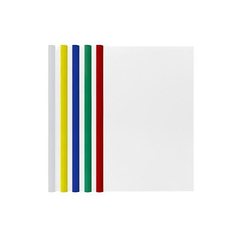 Q310 Q Tube Plastic Folder A4 White/Blue/Green/Red/Yellow