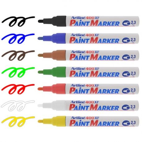 Artline 400XF Paint Marker 2.3mm Black/Blue/Red/Green/White/Yellow