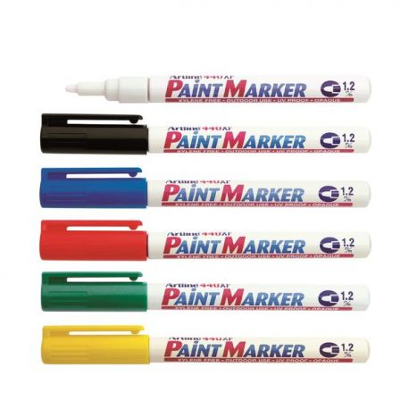 Artline 440XF Paint Marker 1.2mm Black/Blue/Red/Green/White/Yellow