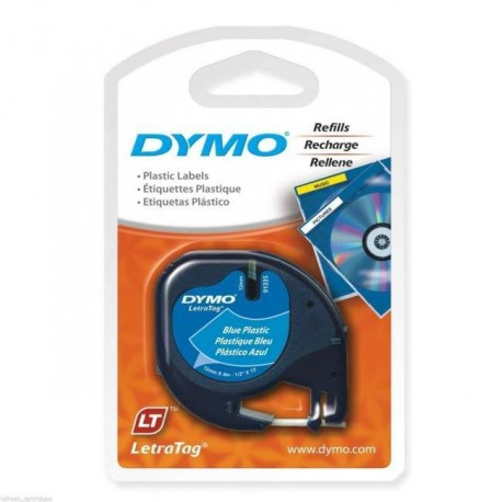 Dymo 91205 Letratag Plastic Tape 12mmx4M Blue