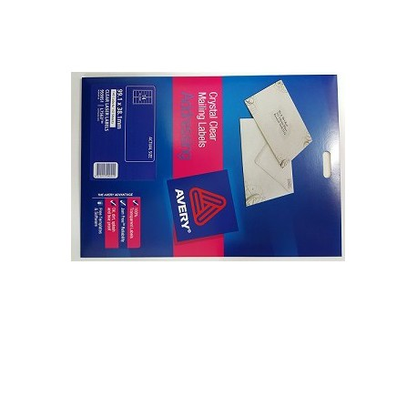 Avery L7563 Mailing Labels 99.1mmx38.1mm 140's Clear