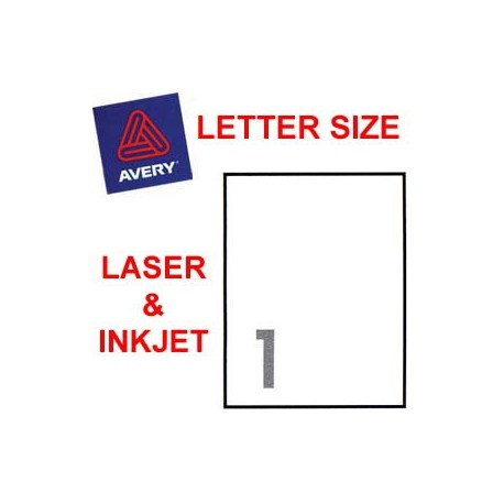 Avery 5165 Mailing Labels 215.9mmx279.4mm 100's White