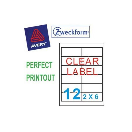 Zweckform 4772 Multipurpose Labels A4 97mmx42.3mm 240's Clear