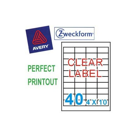 Zweckform 4770 Multipurpose Labels A4 45.7mmx25.4mm 800's Clear