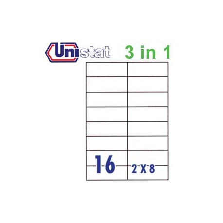 Unistat U4462 Multipurpose Labels A4 105mmx37mm 1600's White