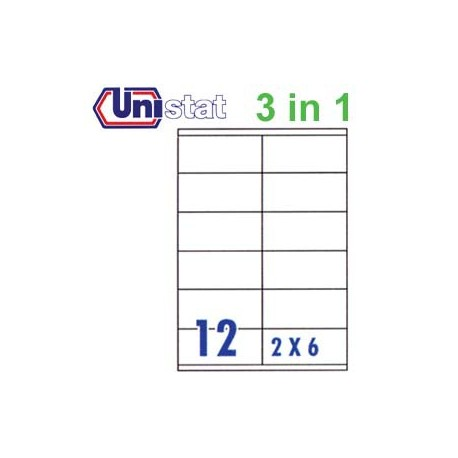 Unistat U4457 Multipurpose Labels A4 105mmx48mm 1200's White