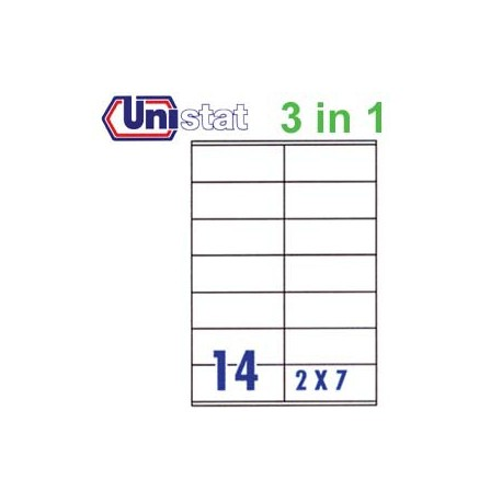Unistat U4452 Multipurpose Labels A4 105mmx42mm 1400's White